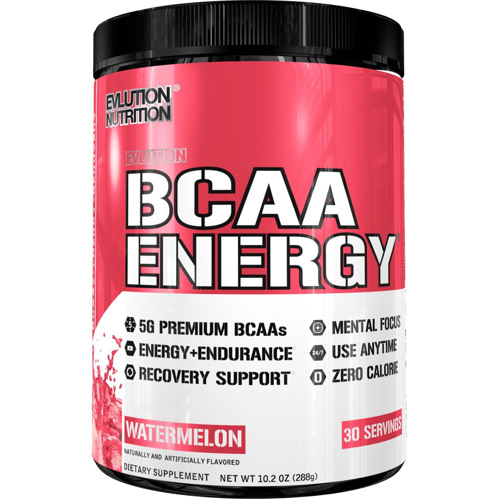Evlution Nutrition BCAA Energy Powder, Watermelon, 30 Servings