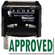 Self-Inking Approved Stamp with Orange Ink