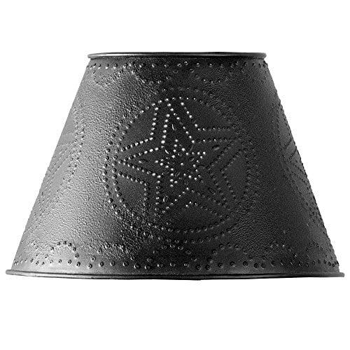 """Black Star Punched Tin 10"""" Lamp Shade"""