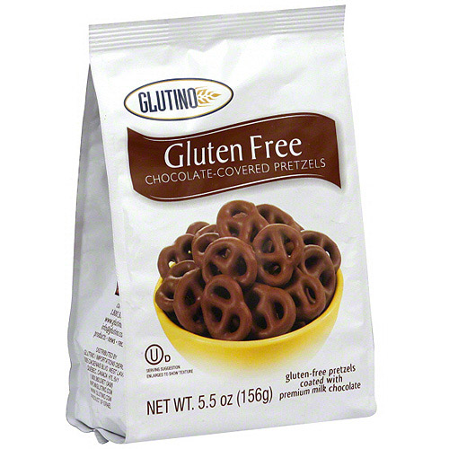 Glutino Chocolate Pretzels, 5.5 oz (Pack of 12)