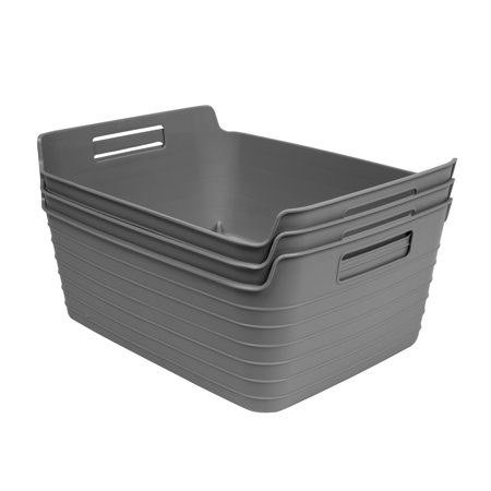 Mainstays Large Flex Bin Gray