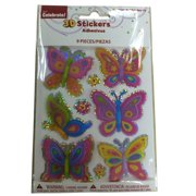 Way To Celebrate Butterfly 3D Stickers