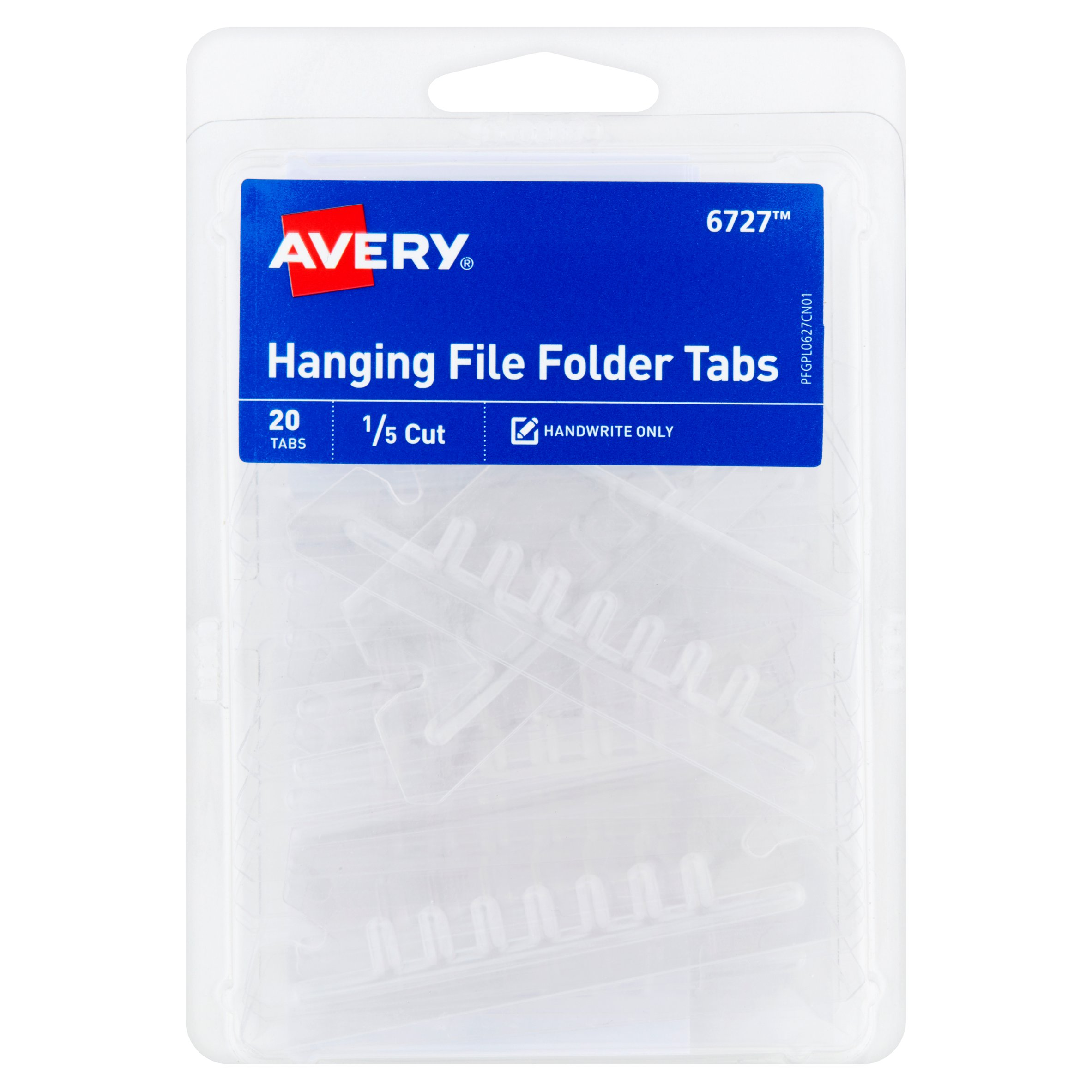 (4 Pack) Avery(R) Insertable Hanging File Folder Tabs 06727, Pack of 20