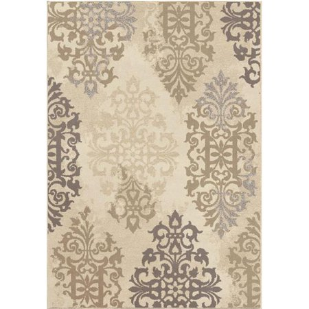 Orian Rugs 4206 5x8 5 x 8 in. Soft Scroll Anzio Area Rug - Ivory - image 1 of 1
