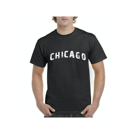 Chicago illinois State Flag Men Shirts T-Shirt Tee