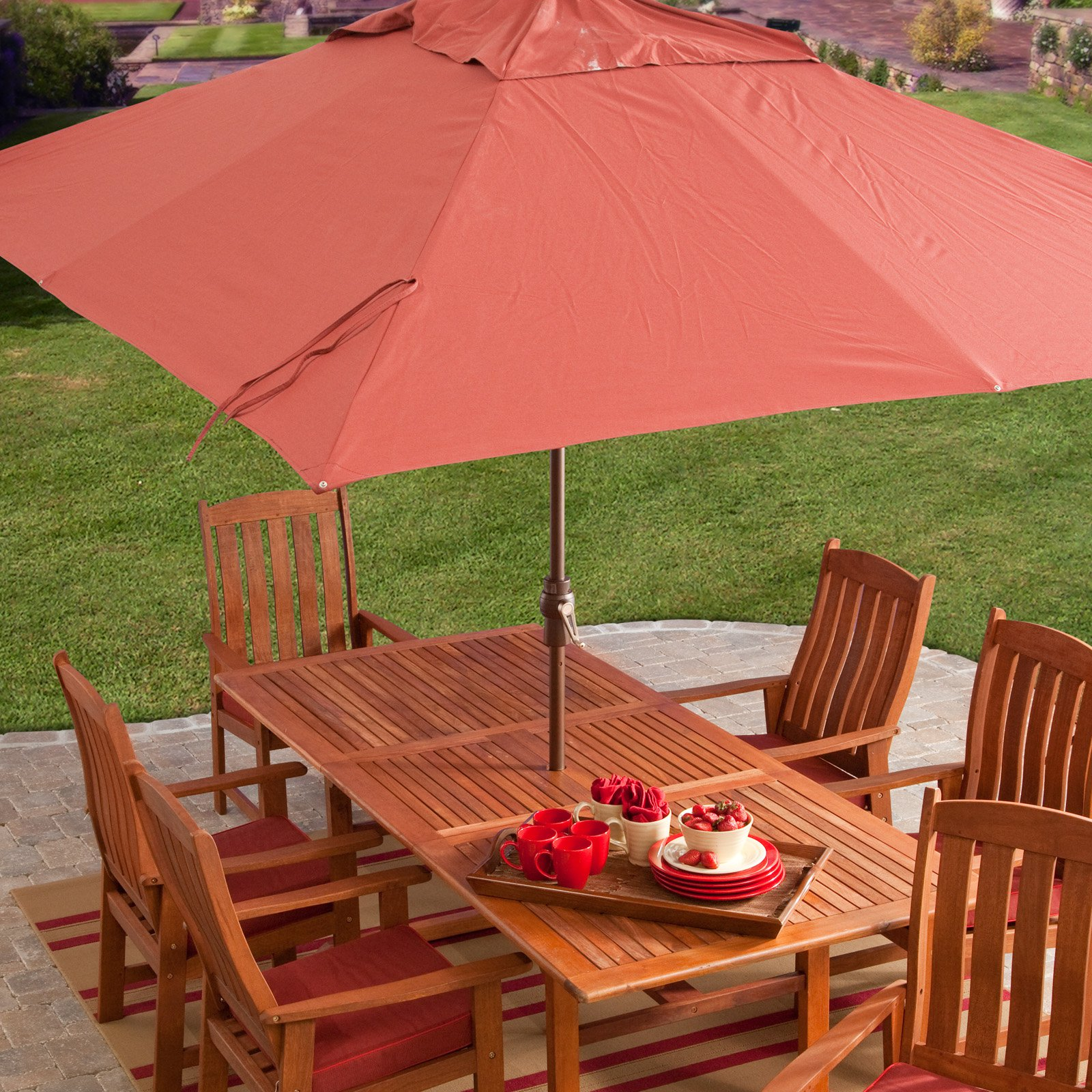 Aluminum Rectangle Patio Umbrella   Walmart.com