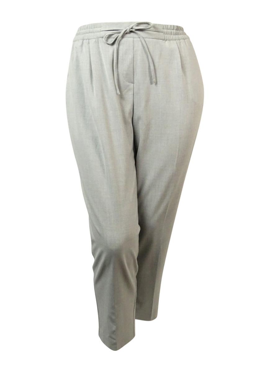 Alfani Women's Elastic Waist Pleated Dress Pants