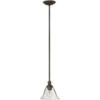 Pendants 1 Light With Olde Bronze Clear Seedy Metal Medium Base 8 inch 100 Watts