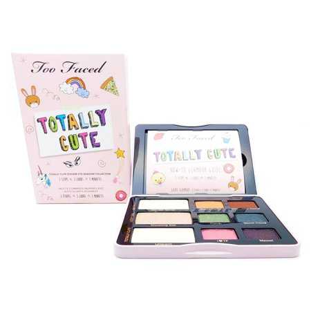 Too Faced Totally Cute Sticker Eye Shadow Collection: 3 Eye Shadows .07 Oz., 6 Eye Shadows .03 (Too Faced Sweetheart Beads Radiant Glow Face Powder)