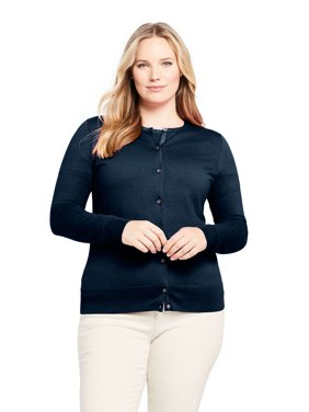 Women's Plus Size Long Sleeve Supima Cotton Cardigan