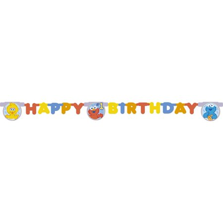 Sesame Street Beginnings Happy 1st Birthday Party Banner By tilco](Sesame Street Birthday Banner)