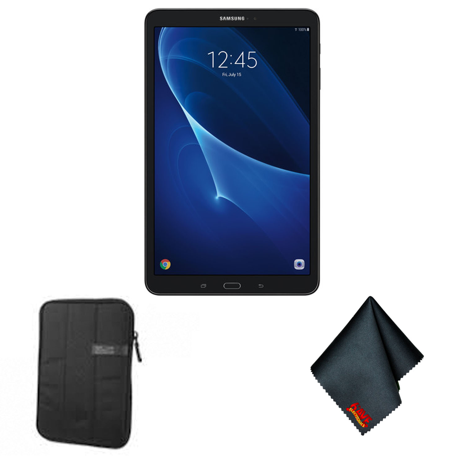 Samsung Galaxy Tab A T580 10.1-Inch Touchscreen 16 GB Tablet (2 GB Ram, Wi-Fi, Android OS, Black) - Tablet Starter Bundle