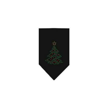 - Christmas Tree Rhinestone Bandana Black Large