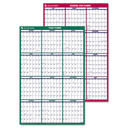 AT-A-GLANCE Vertical Erasable Wall Planner, 24 x 36, 2014-2015/2015