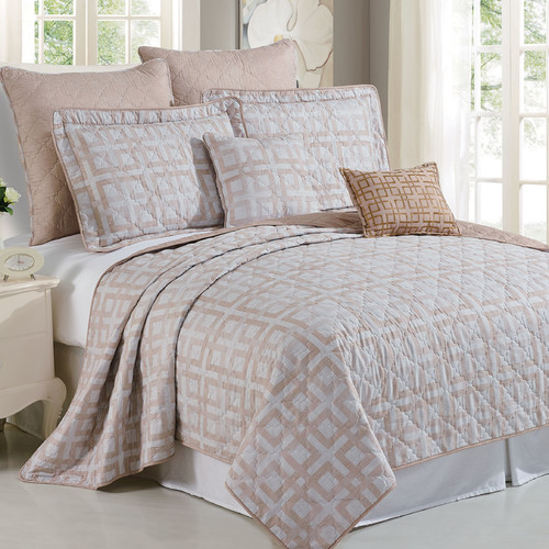 Serenta Austin Geo 7 Piece Coverlet Set