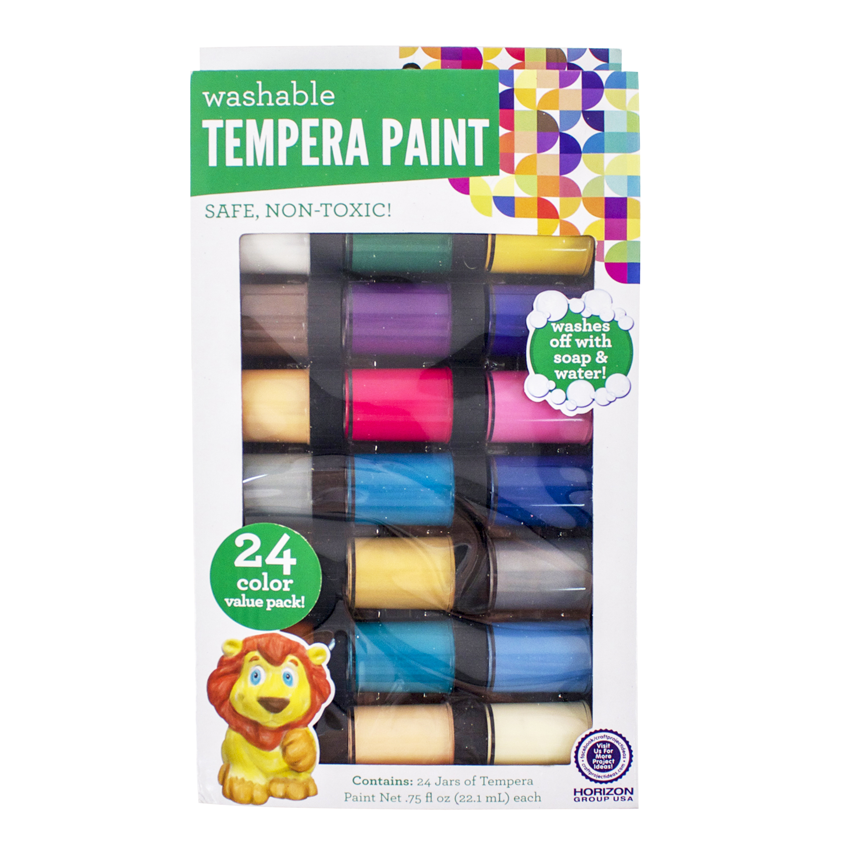 Kids Crafts Washable Tempera Paint, 24pk by Horizon Group USA