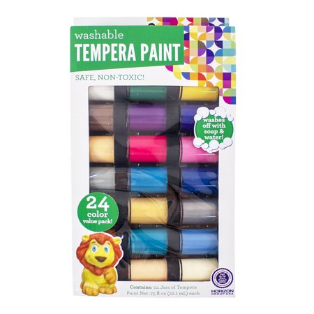 Kids crafts washable tempera paint 24pk by horizon group for Walmart arts and crafts