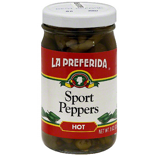 La Preferida Hot Sport Peppers, 8 oz (Pack of 12)