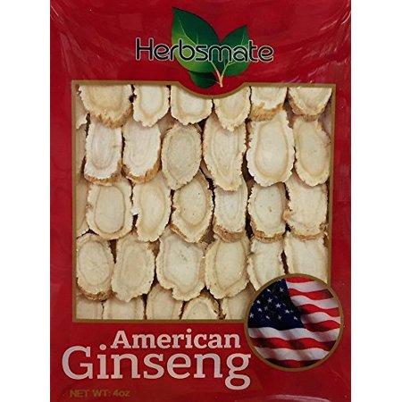 sélectionné main-A Taille Ginseng année américaine tranche moyenne (4 Oz. Box)