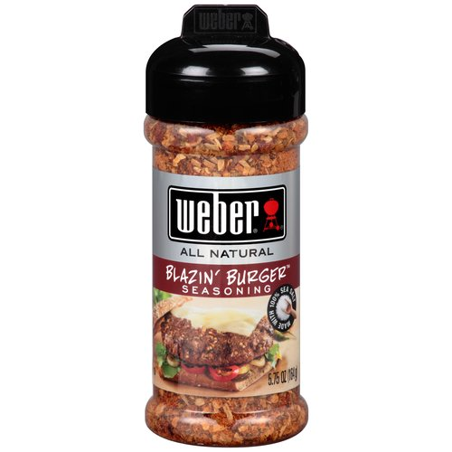Weber All Natural Blazin' Burger Seasoning, 5.75 oz