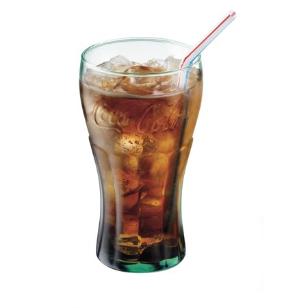 Libbey 16.75-oz Coca Cola Glass Tumblers, Set of (Hurricane Glasses Wholesale)
