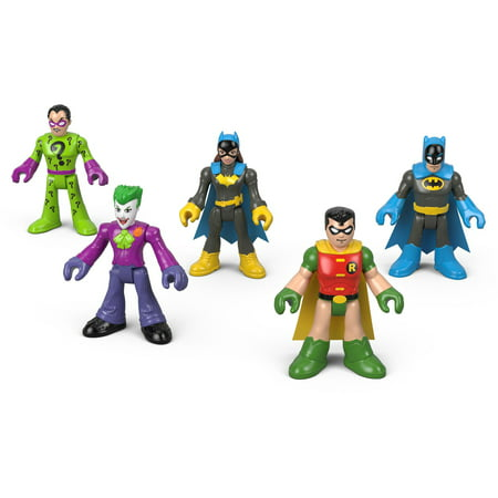 Action Figure Multi Pack - Imaginext DC Super Heroes Action Figure 5-Pack for Ages 3-8Y