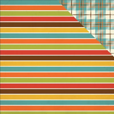 """Grandson Double-Sided Cardstock 12""""X12""""-Stripes"""