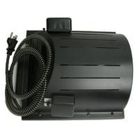 "AKOMA Dog Products Heat-N-Breeze Dog House Heater and Fan, Black, 10"" x 10"" x 4.5"""