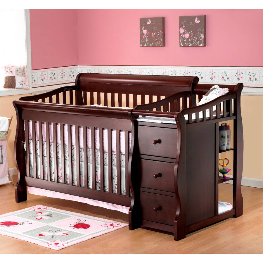 Sorelle Tuscany 4-in-1 Convertible Fixed-Side Crib and Changing Table, Espresso