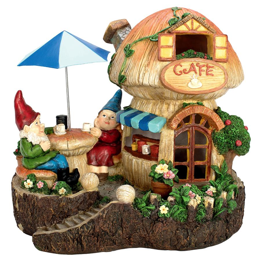 Coffee Cup Cafe Garden Gnome Statue by Design Toscano