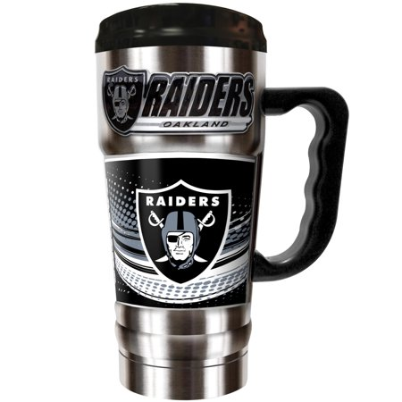 Oakland Raiders The Champ 20 oz. Travel Tumbler - Silver - No -