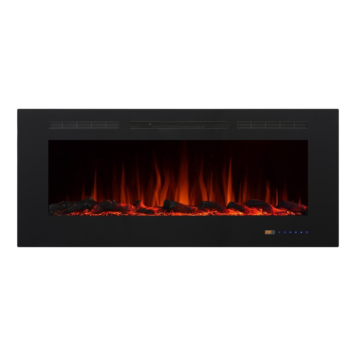 "Valuxhome Armanni 50"" 750W 1500W, In-Wall Recessed Electric Fireplace Heater w  Touch... by Valuxhome"