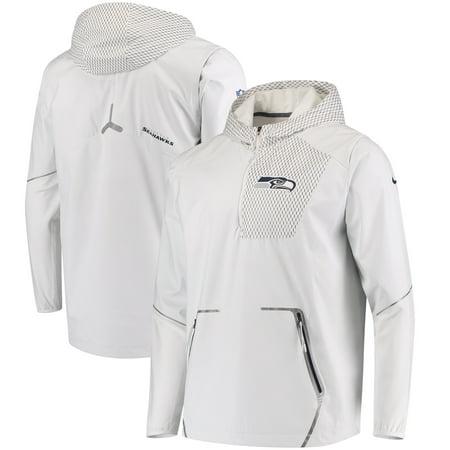 Seattle Seahawks Nike Champ Drive Vapor Speed Fly Rush Flash Half-Zip Pullover Jacket - White