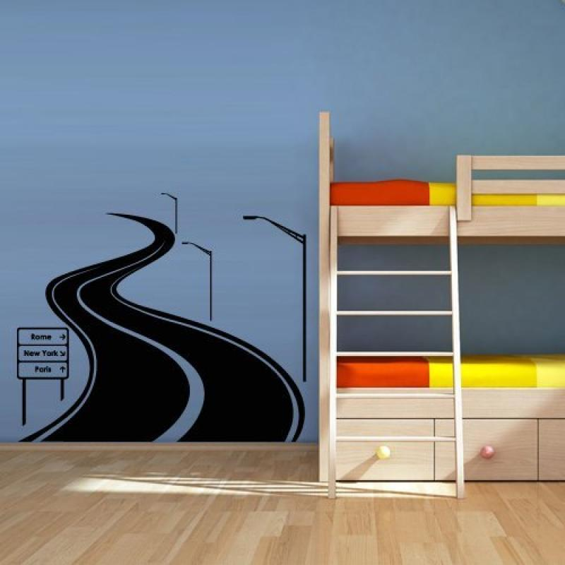 Wall Decal Vinyl Sticker Decals Art Decor Design Road Track Car Band Traffic Sign Nursery Kids Gift (M1425)