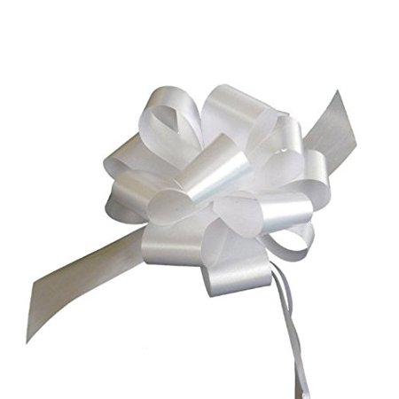White Decorative Gift Pull Bows - 5