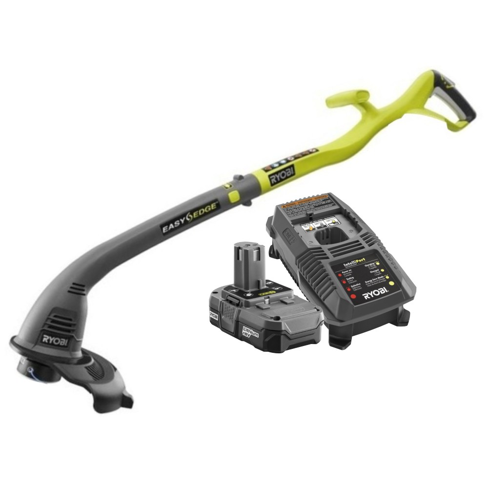 Ryobi P2030 18V ONE+ Lithium-Ion Curved Shaft Trimmer Kit...
