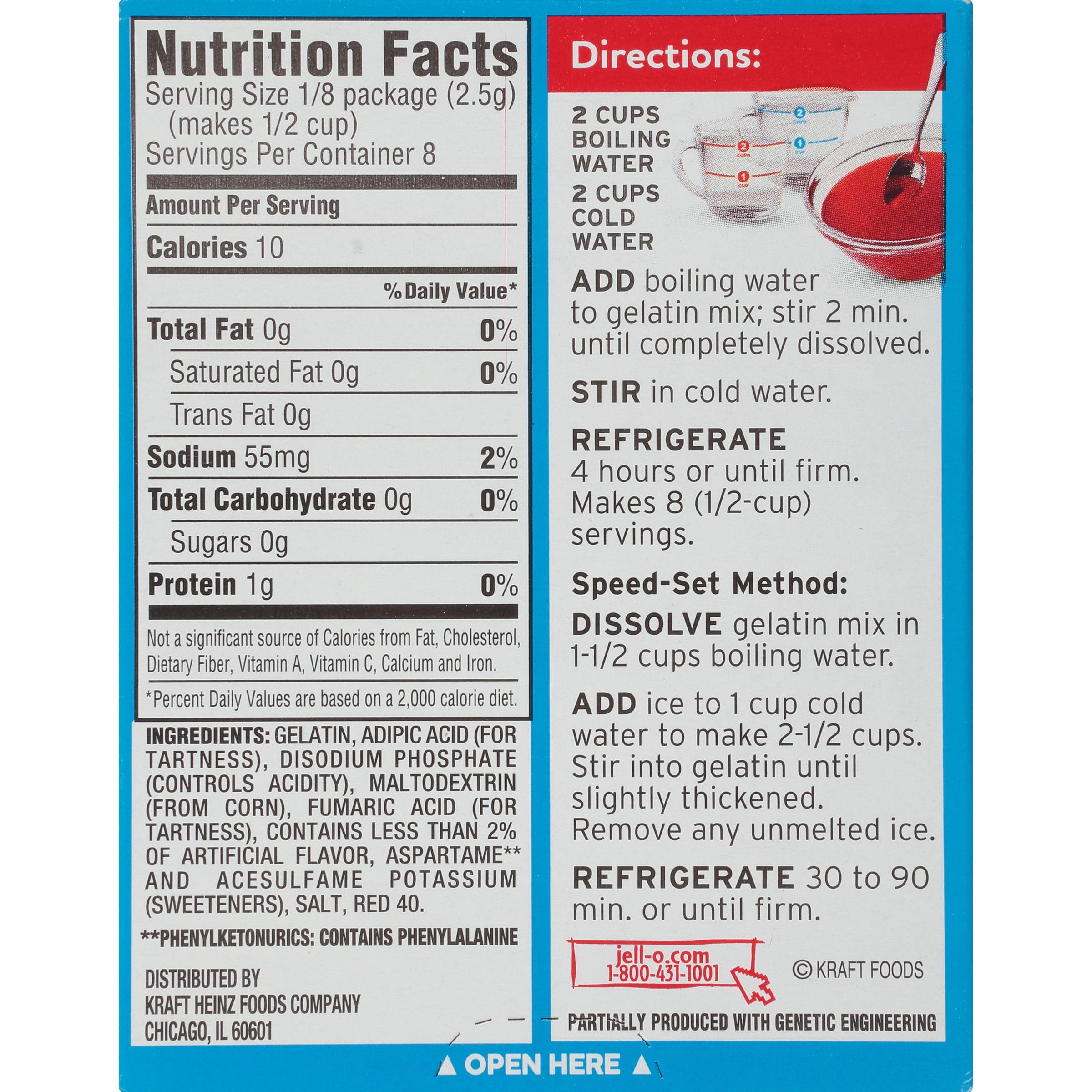 3 Pack Jell O Raspberry Sugar Free Gelatin Mix 0 6 Oz Box Walmart Com Walmart Com