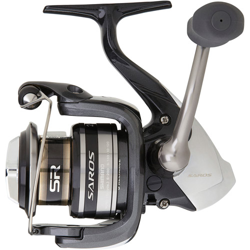 Shimano Saros 2500FA Spinning Reel, 5 1 Ball Bearings, 8 lbs/140 yds, 6.0:1