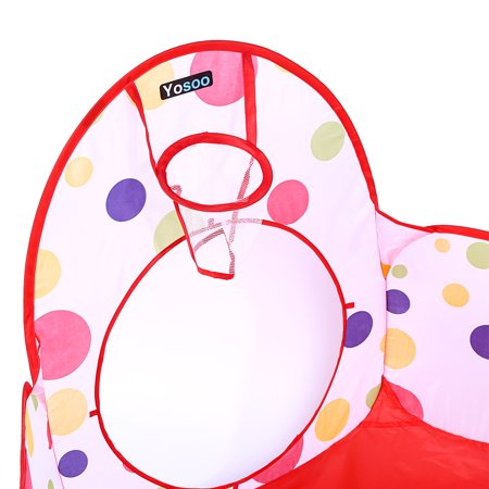 Walfront 3pcs Set Children Baby Play House Tent Tunnel