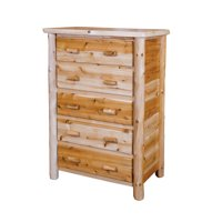 Furniture Barn USA™ Rustic White Cedar Log Drawer Chest