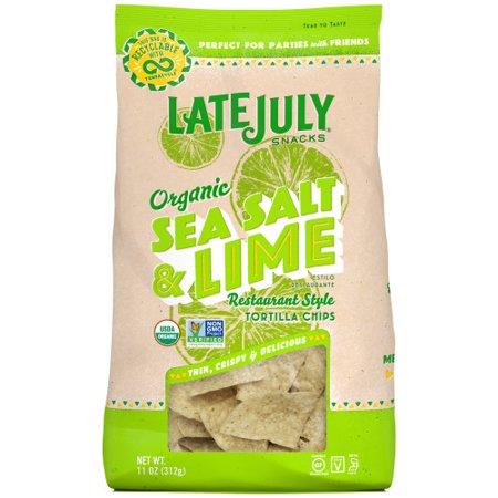 Late July Sea Salt & Lime Restaurant Style Tortilla Chips - 11oz