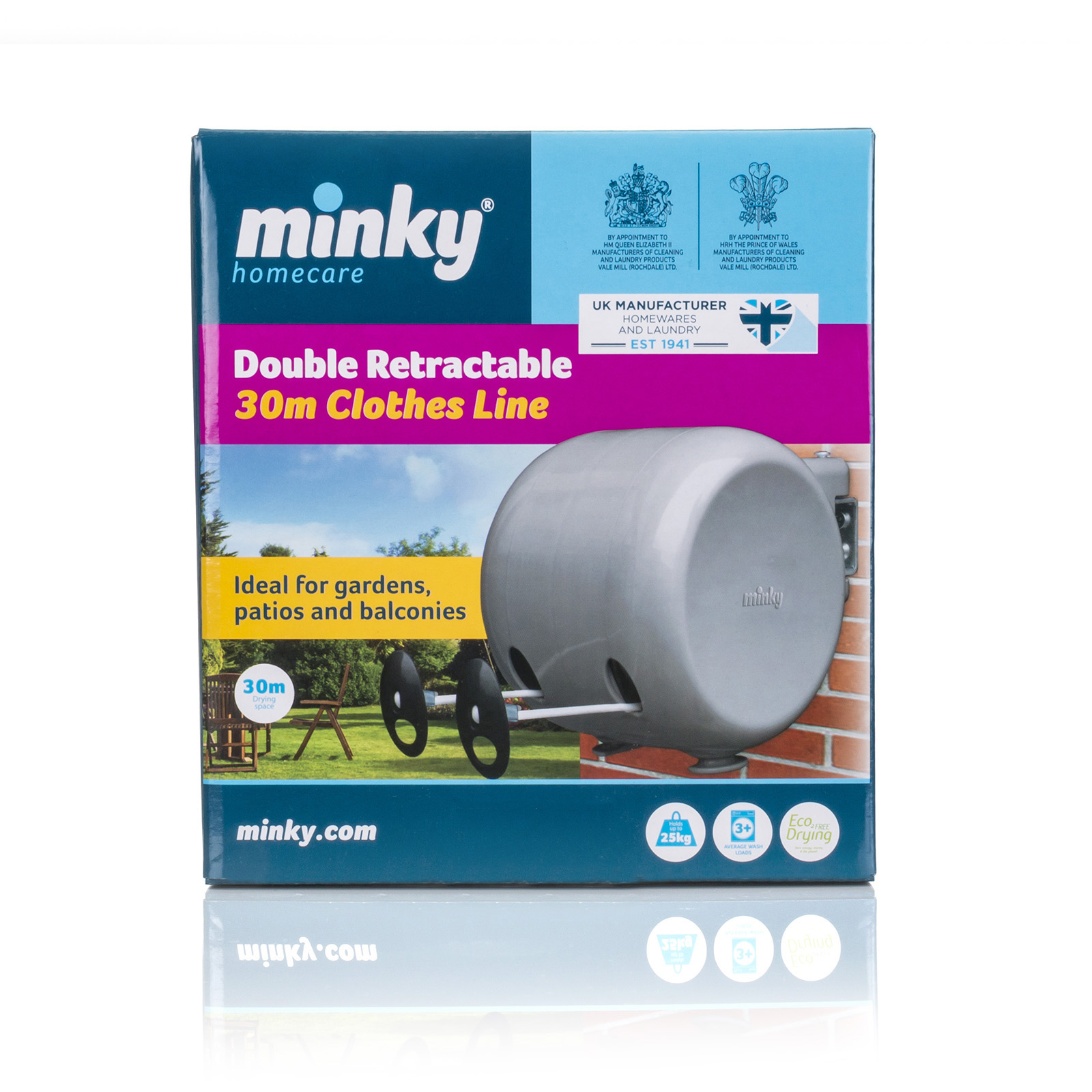 Minky 98' Retractable Clothesline