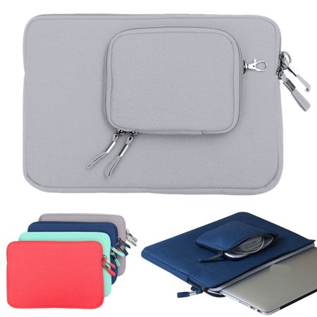 Soft Canvas Laptop Sleeve Case Carry Bag with Small Pouch for Macbook Air 11.3'' and Other 11'' Thin