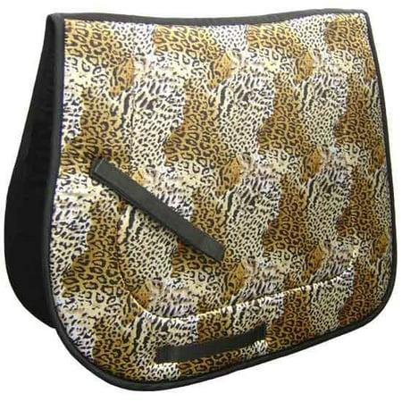 Closeout Saddle (Derby Originals Leopard Print English Saddle Pad Closeout Sale -)