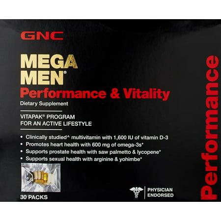 Gnc Mega Men Performance And Vitality Supplement  30 Count