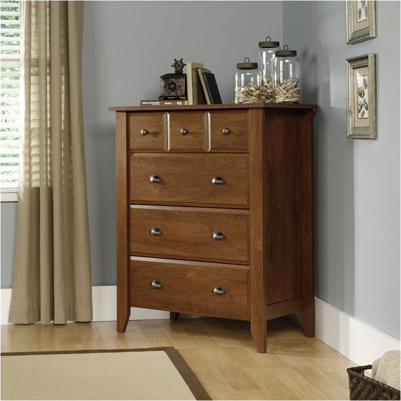 Pemberly Row 4 Drawer Chest in Oiled Oak