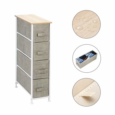 Akoyovwerve Narrow Dresser Vertical Storage Unit With 4