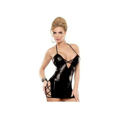 Magic Silk Criss Cross Dress B460 Black