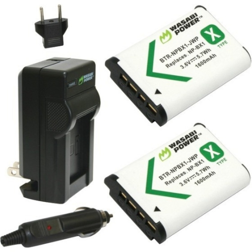 Wasabi Power Kit-btr-npbx1-lch-npbx1 Sony Np-bx1, Np-bx1/m8 Battery 2-pack & Charger