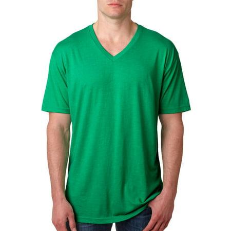 - Next Level Mens Tri-Blend Ribbed Knit V-Neck T-Shirt, Pack of 10